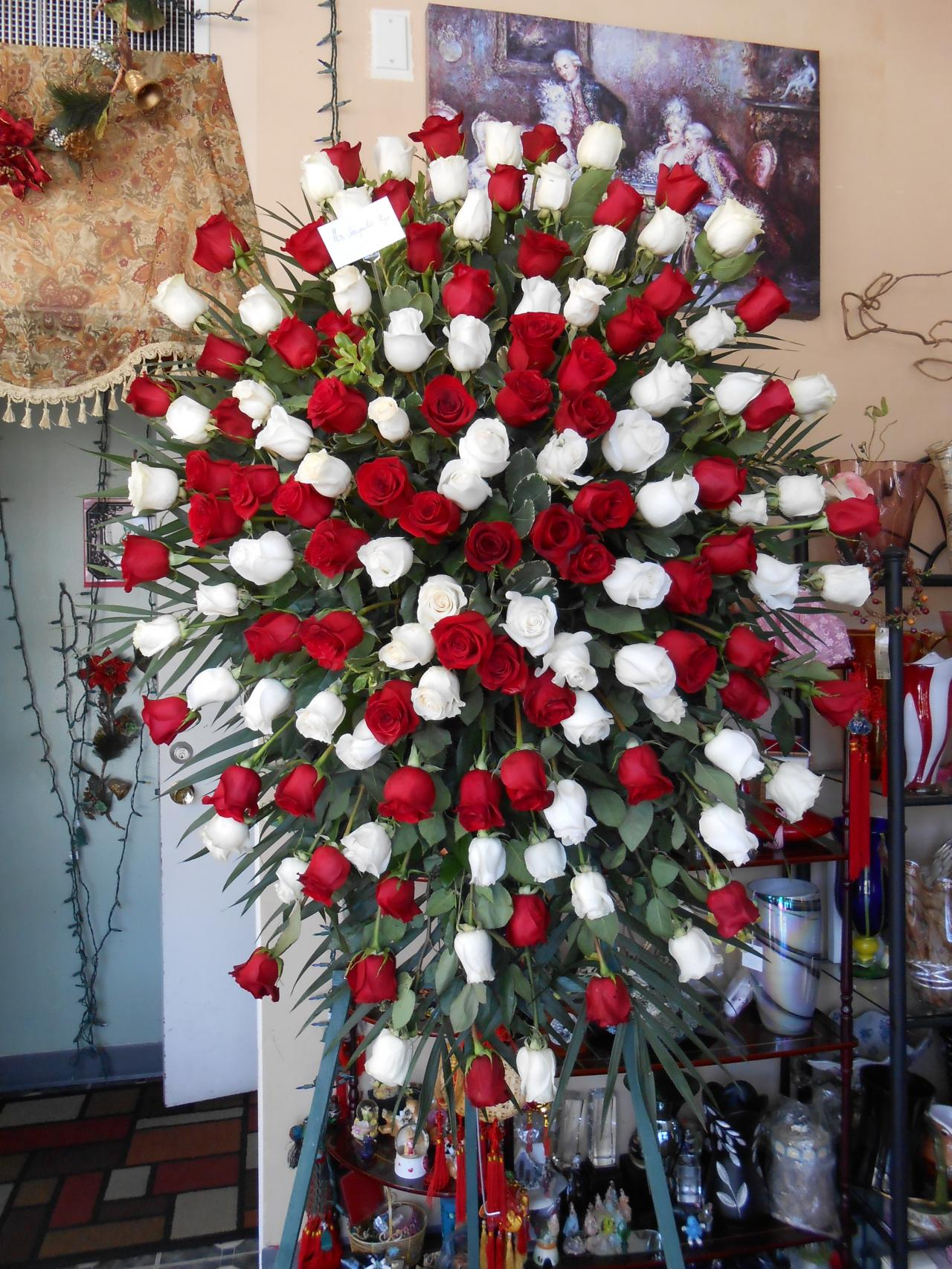 Van florist funeral theres plenty more at our store please come by our shop to see an abundance of funeral arrangements izmirmasajfo Images